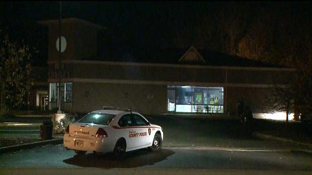 A St. Louis County Police car outside 'On Target' following a burglary (Credit: KMOV)