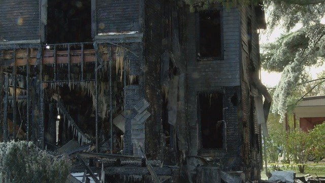 Illinois firefighter Gregory Wood's home was also a total loss. (Credit: CNN)
