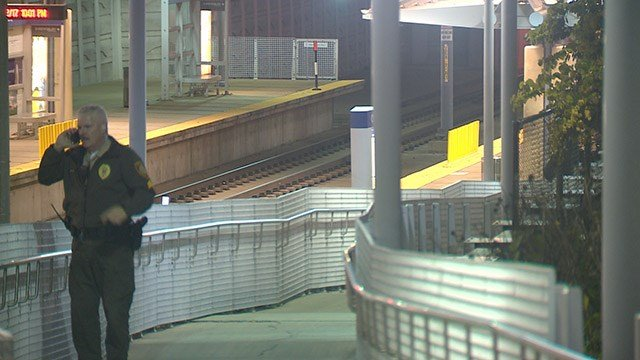 Brentwood Police are working the scene of a shooting near the Brentwood I-64 Metro Station. (Credit: KMOV)