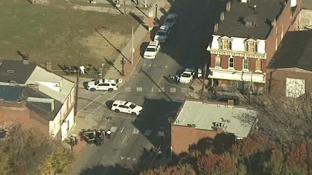 Police on scene of a shooting at 14th and Salisbury in St. Louis (KMOV)