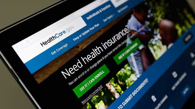 FILE - In this May 18, 2017 file photo, the Healthcare.gov website is seen on a laptop computer, in Washington.  (AP)