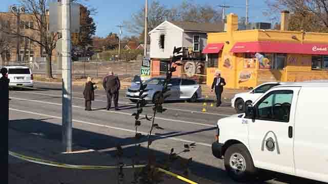 Homicide detectives investigating a shooting on Goodfellow in St. Louis (KMOV)
