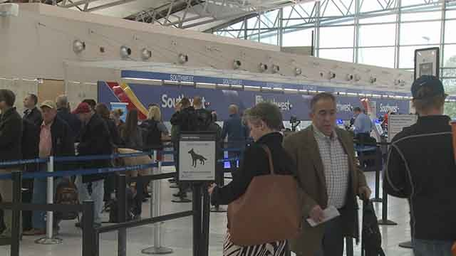 A Southwest Airlines pilot was arrested Wednesday at St. Louis Lambert Airport. (Credit: KMOV)