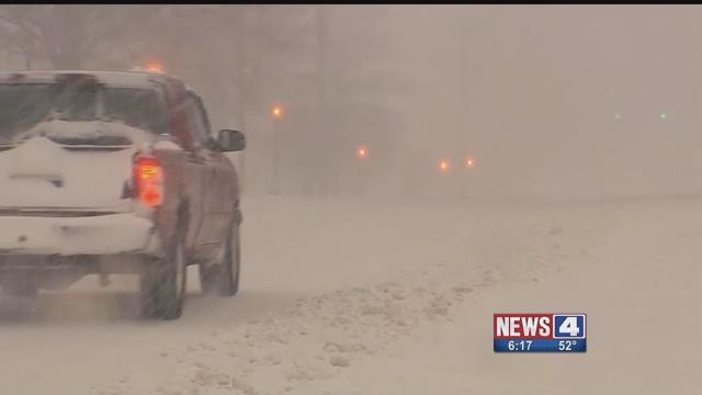 A car in snow. Credit: KMOV