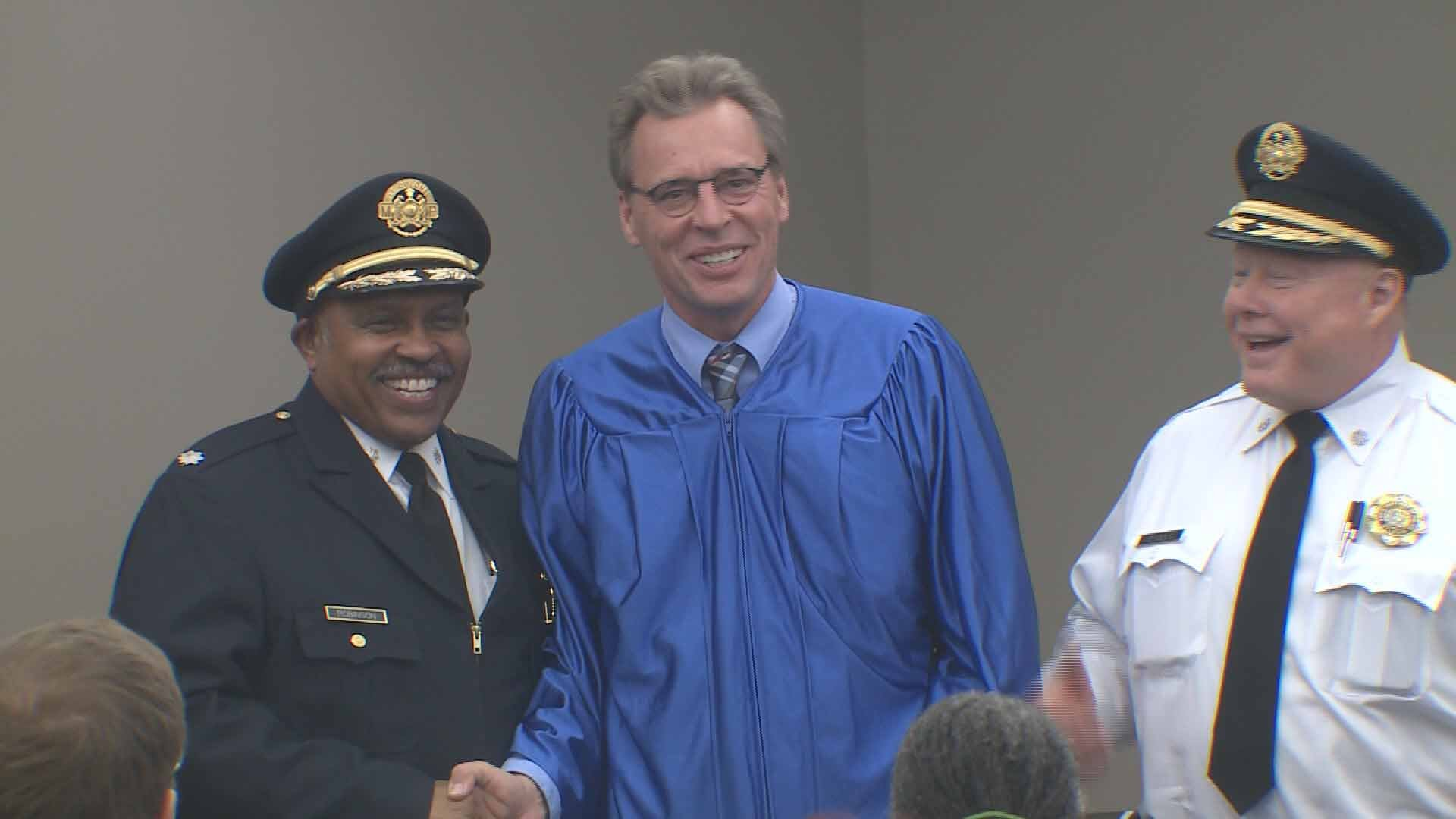 Our own Ray Preston graduated from the SLMPD Citizen's Academy on Wednesday. Credit: KMOV