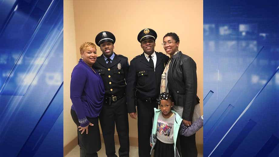 The Dace Family at the St. Louis Police Academy graduation. Credit: KMOV