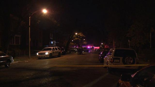 Police investigating a homicide in the 3800 block of Maffitt Thursday (Credit: KMOV)