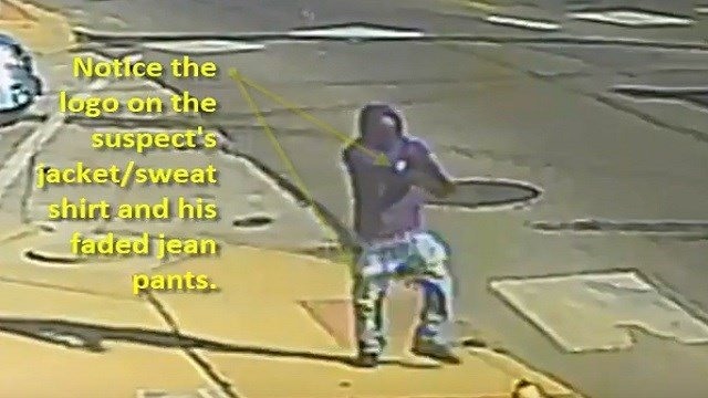 Homicide detectives are looking to identify this man, seen in surveillance video. (Credit: SLMPD)