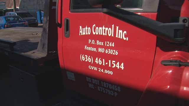 Auto Control Inc illegally towed the cars of Kim Rhodes and her brother in downtown St. Louis in April. Credit: KMOV