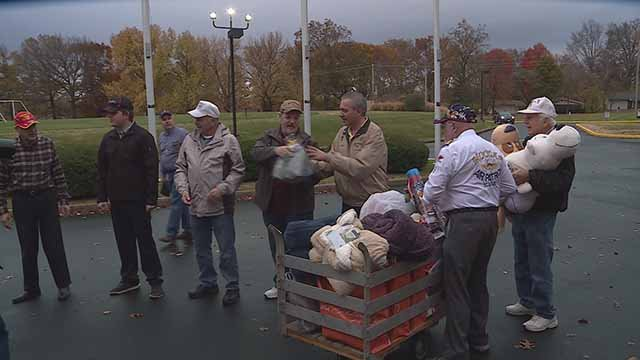 The Shriners held a toy drive to replace toys that were lost in a warehouse fire. The toys were meant for Shriners Hospital patients. Credit: KMOV
