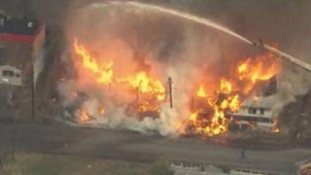 Firefighters in the 2600 block of Louisiana Boulevard (Credit: KMOV)