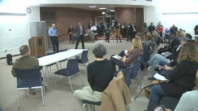 Shaw residents packed a meeting on Monday to voice their concerns about robberies in the neighborhood. Credit: KMOV