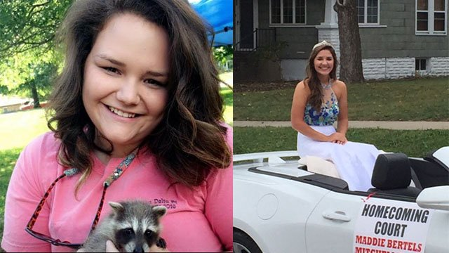 20-year-old Hailey Bertels and 17-year-old sister Madisen Bertels were killed in the crash. (Credit: KMOV)