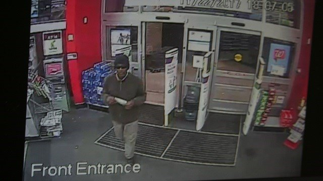 Des Peres Police are searching for a man accused of robbing a Walgreens in Des Peres. (Credit: Des Peres Police Department)