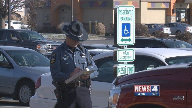 Illinois police are cracking down on those who illegally park in handicapped spaces Black Friday. (Credit: KMOV)