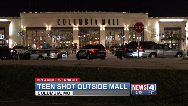 A 19-year-old was shot on Thanksgiving right outside the Columbia mall in Missouri. (Credit: KMOV)