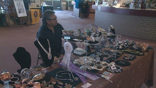 All weekend long, holiday shoppers could pick out unique gifts at the Cahokia Mounds Native American Holiday Market.  (Credit: KMOV)