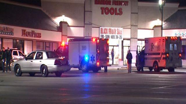 Emergency crews outside the Southern Armory gun store after a break-in Monday (Credit: KMOV)