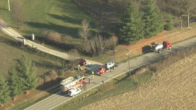 Skyzoom4 was over the crash on Highway F Monday morning (Credit: KMOV)
