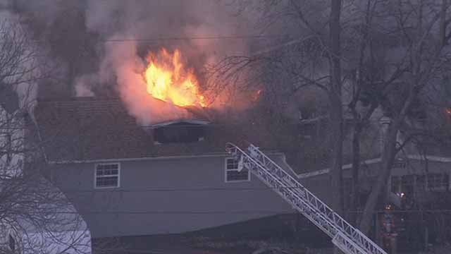 A fire broke out at a home on E. 23rd Street in Granite City on Friday afternoon. Credit: KMOV