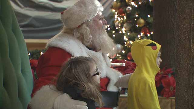 Children with special needs meet Santa at University Park Mall
