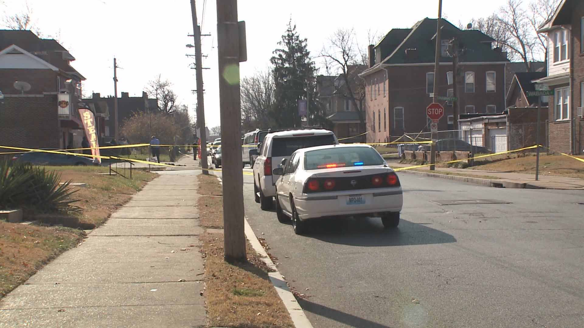 Four people were shot at the Euclid Market in North City on Sunday. Credit: KMOV