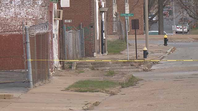 Police said a man was washing his girlfriend's car in Wellston on Sunday when he was shot and killed. Credit: KMOV