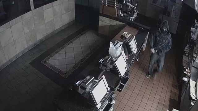Police say the two were caught on surveillance video taking more than $2,200 at the McDonald's on Robert Raymond Drive. Credit: KMOV