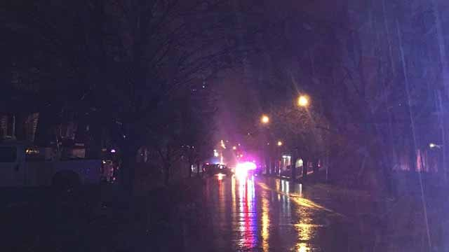 A man was shot in the chest on the Imo's parking lot near the intersection of Spring and Itaska Monday night. Credit: KMOV