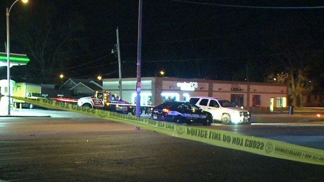 A police pursuit ended with a crash at Lillian and Goodfellow Wednesday (Credit: KMOV)