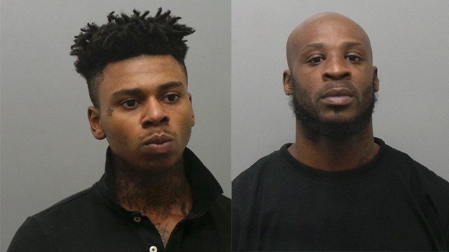 Devin Rhone, 18, (left) and Ratio Warren, 34 (right) are both charged with second-degree murder, first-degree robbery and armed criminal action. (Credit: St. Louis County Police Department)
