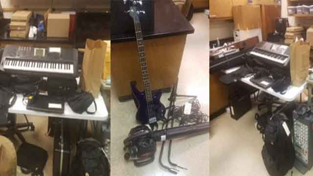 Reported stolen items confiscated following church burglary in Franklin County. (Credit: Franklin County PD)
