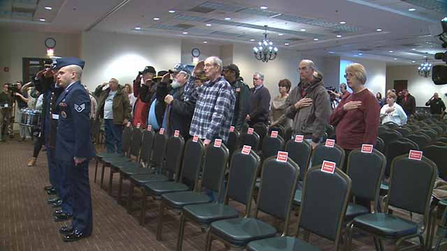 Pearl Harbor Ceremony at the St. Peters Cultural Arts Center. Credit: KMOV