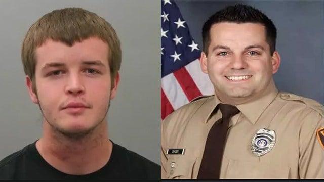 Trenton Forster (left) and Officer Blake Snyder (right)