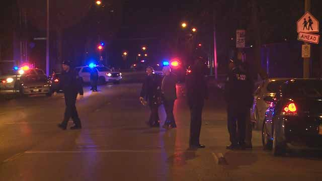 Officers and a suspect exchanged fire near Vandeventer and Ashland on Friday night. Credit: KMOV