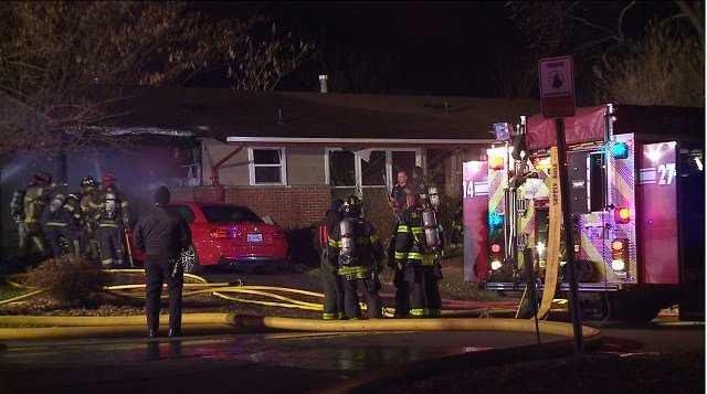No one was home at the time of the fire. (Credit: KMOV)