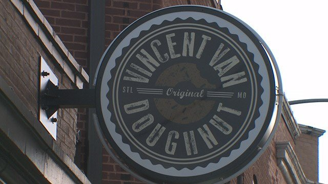 Vincent Van Doughnut shop is open for business despite thieves breaking into the shop overnight Saturday. (Credit: KMOV)