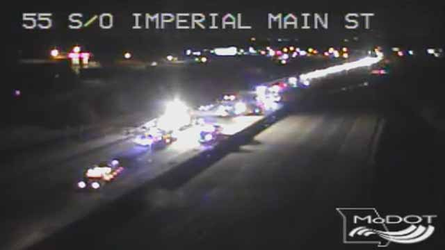 An 18-year-old was killed in an accident on I-55 in Imperial Saturday night.  Credit: KMOV