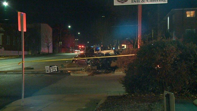 Police on scene of a deadly accident on Saturday night on Gravois Avenue. (Credit: KMOV)