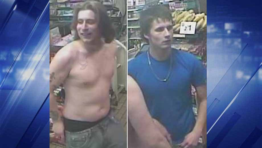 Police say the suspect on the left pointed a gun in the face of a 7 Eleven clerk in Affton. Credit: St. Louis County PD