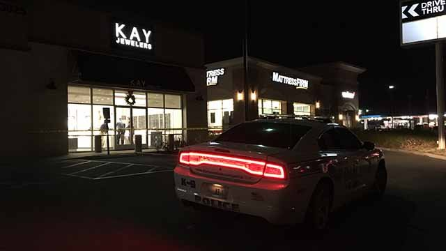 Police say a male suspect robbed a Kay Jewelers store in Florissant on Monday night. Credit: KMOV
