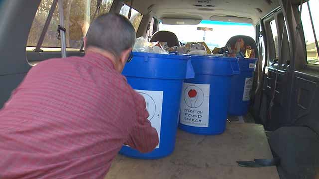 Seniors helping out in the Fill the Ambulance with Food Drive. Credit: KMOV