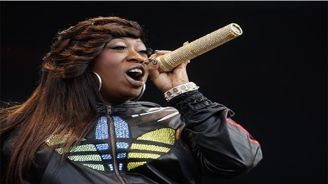 Rapper Missy Elliot performs onstage at the Wireless Festival in Hyde Park, London. (AP Photo/Joel Ryan)