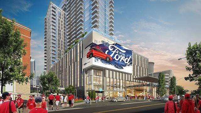 Rendering of the exterior of One Cardinal Way(Credit: St. Louis Cardinals)