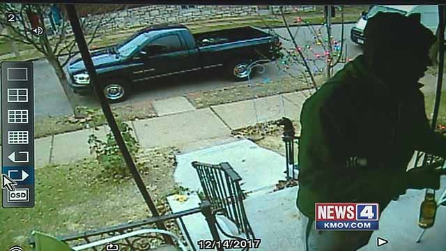 A security camera caught a delivery driver stealing beer from the front porch of a South City home. Credit: John Clauson