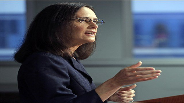 Illinois Attorney Gen. Lisa Madigan speaks at a news conference, in Chicago on Aug. 21, 2014 (Credit: AP Photo/M. Spencer Green,)