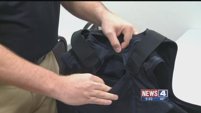 A kevlar vest that is worn by police officers. Credit: KMOV