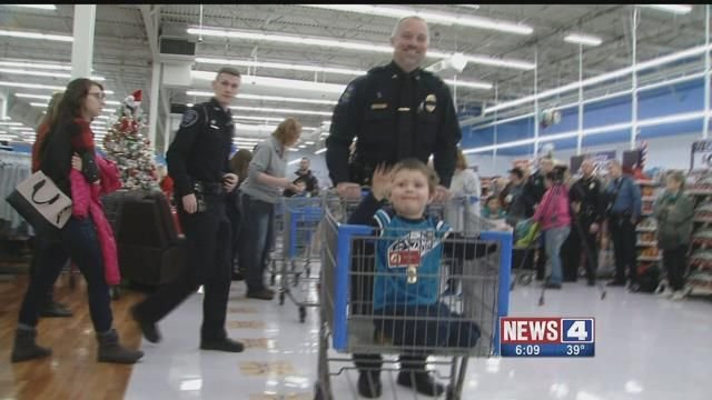 The Shop with a Cop event in Farmington. Credit: KMOV
