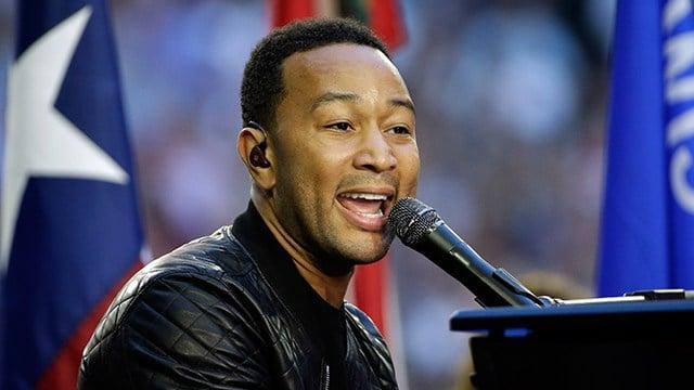 John Legend singing before Super Bowl XLIX (AP Photo/David J. Phillip)