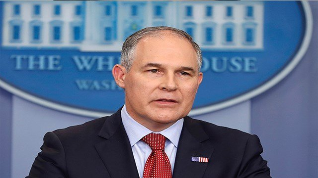 Environmental Protection Agency administrator Scott Pruitt speaks in the Brady Press Briefing Room of the White House in Washington on June 2, 2017. (AP Photo/Pablo Martinez Monsivais, File)